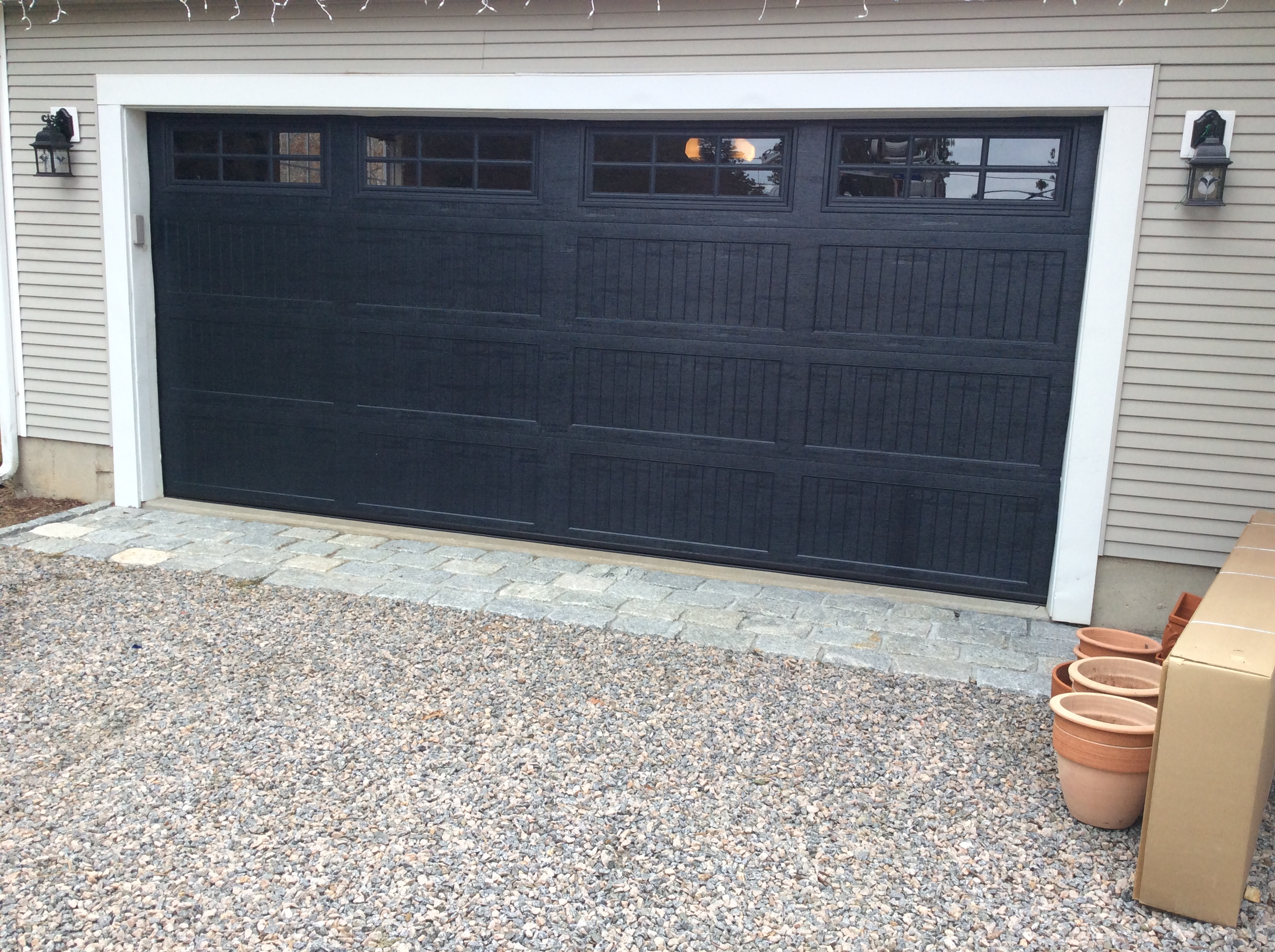 Top Garage Door Color Black Dark Gray An