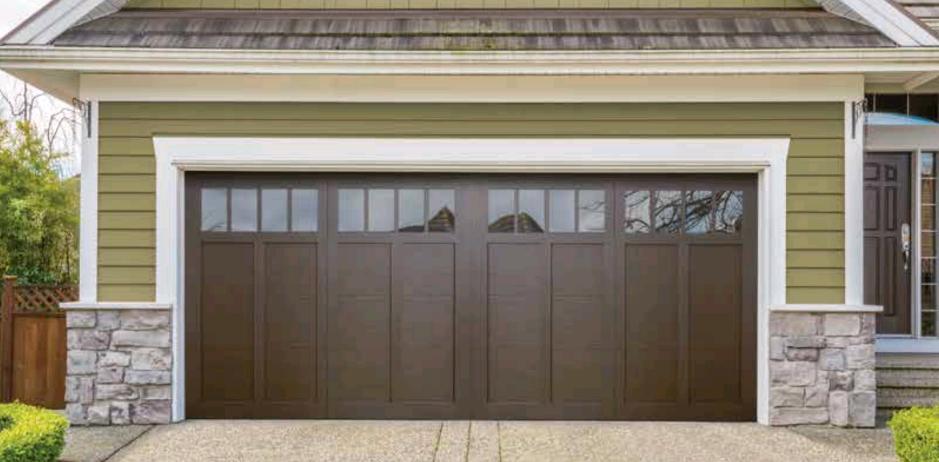 Top Garage Door Color Walnut Brown An