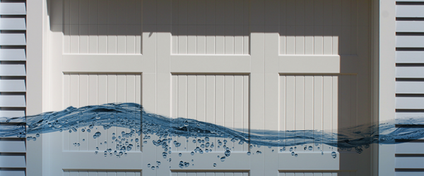 how to prevent garage door flooding